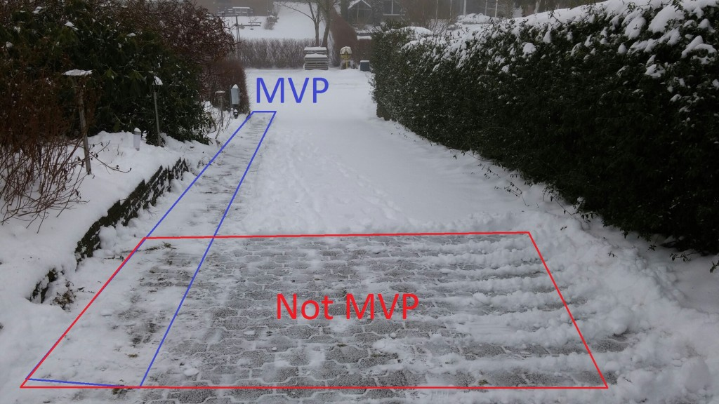 Minimum viable product and snow removal